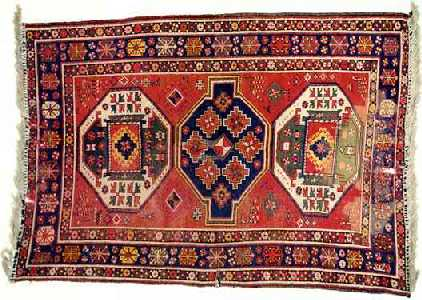 There Are Three Types Of Kazak Rugs [4]: 1. Bordjalou   A District South Of  Tiflis Whose Rugs Are Coarsely Woven, Contain Simpler Designs Such As Many  Latch ...